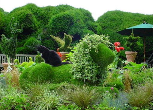 Mosaiculture Topiary lion
