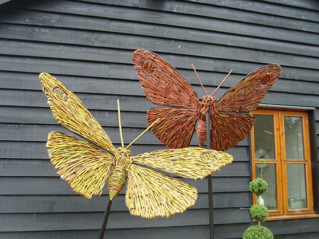 Willow wicker and woven Butterflies