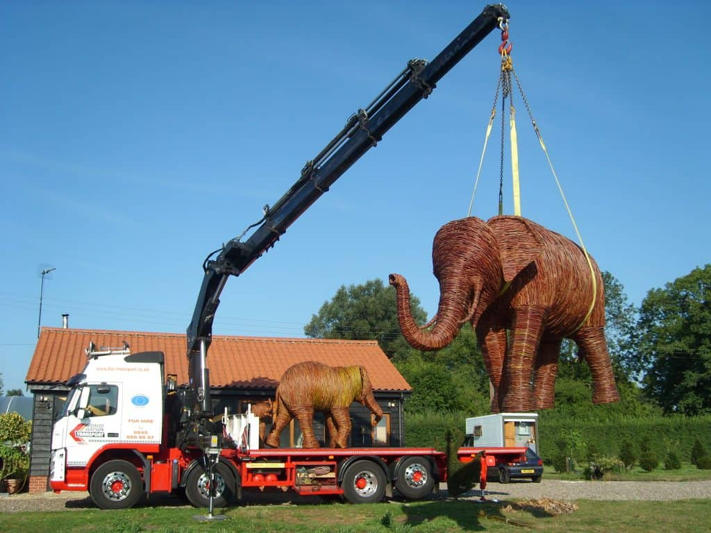 Elephant Loading with Hiab crane and David Watson Transport