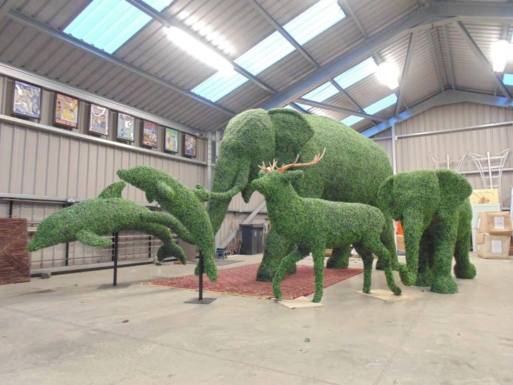 Elephants Dolphin Artificial Topiary