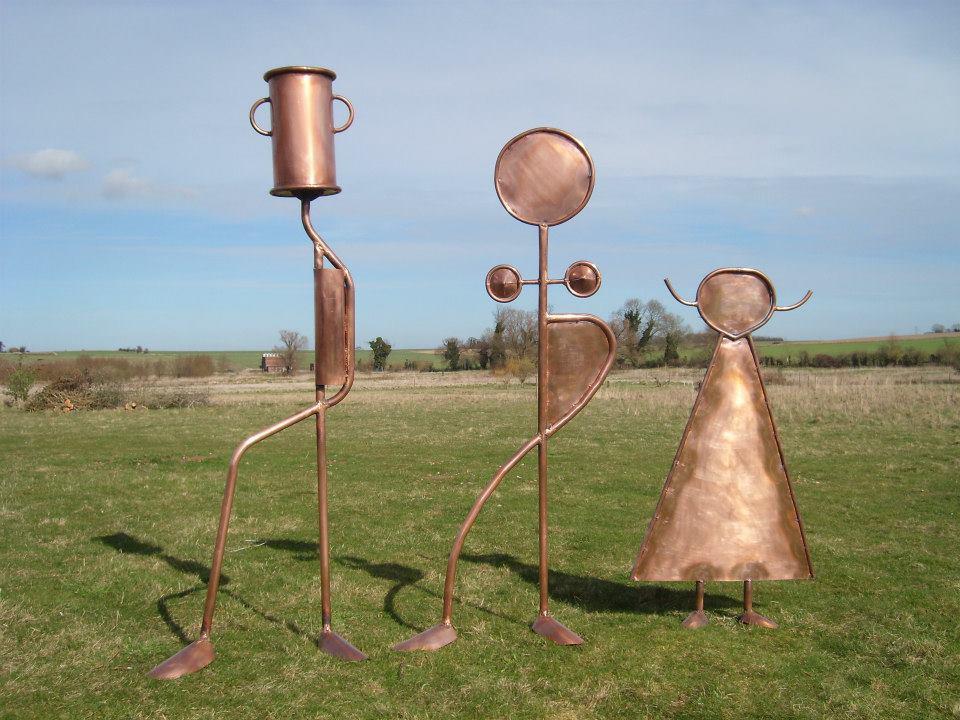 Family Copper sculptures