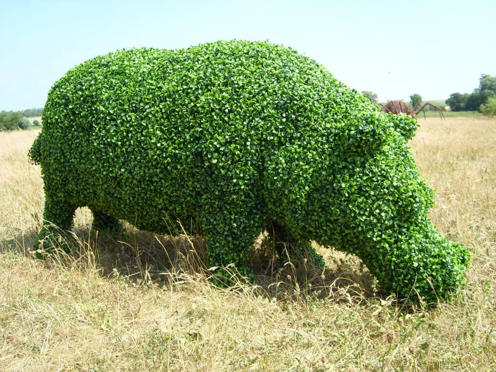 Hippopotamus Artificial Topiary