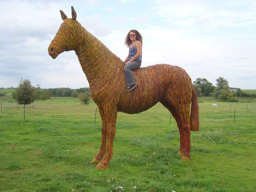 Willow wicker and woven War Horse for Warner Hotels