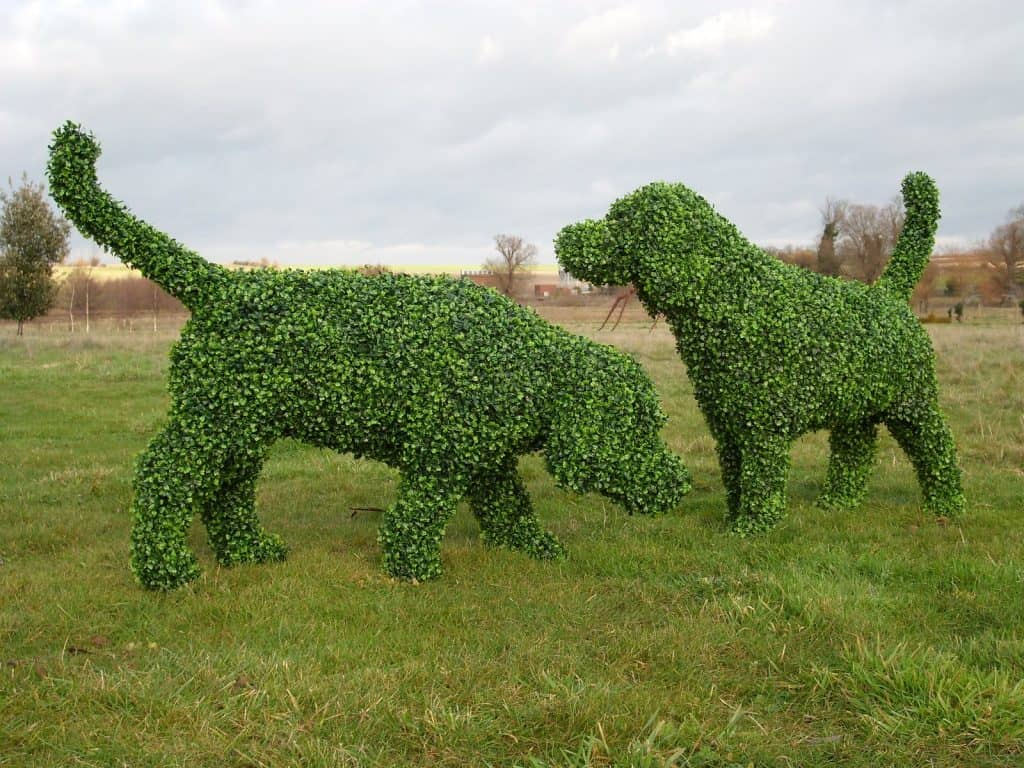 Hound Dogs Artificial Topiary