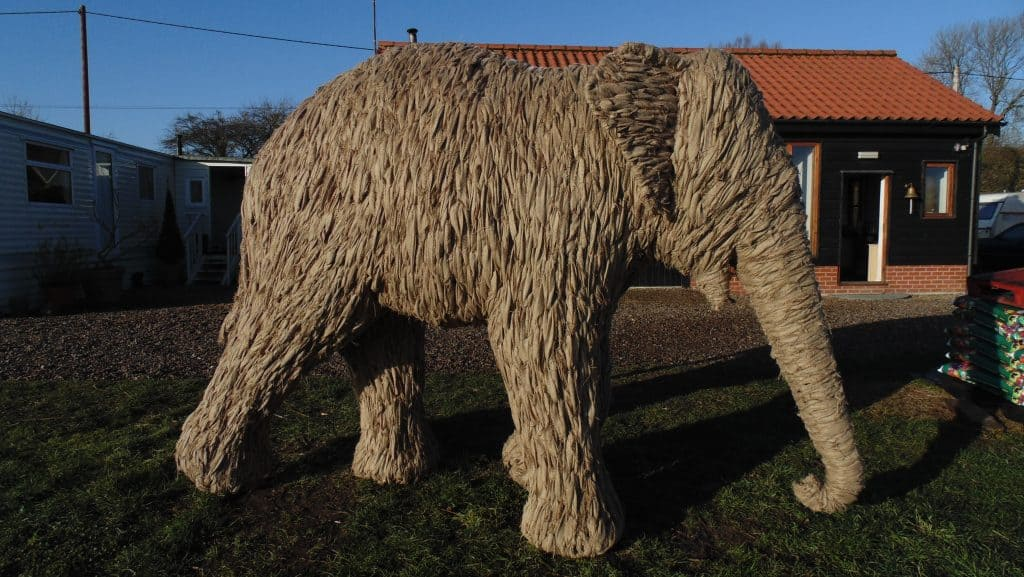 Jute Elephant stage Prop for Set designs