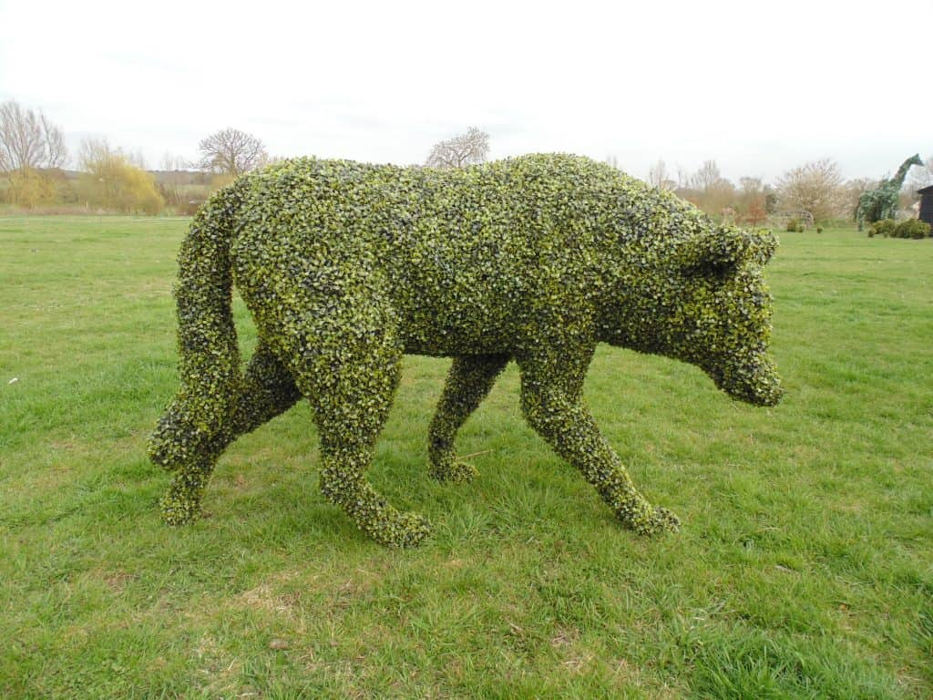 Large Wolf Artificial Topiary