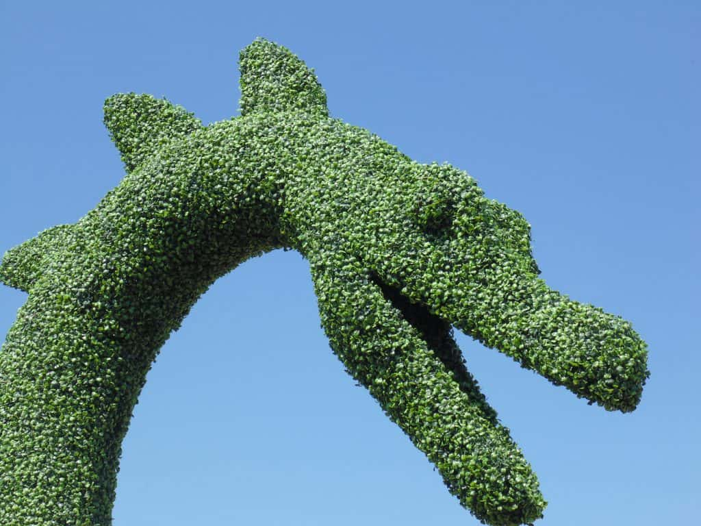 Loch Ness Monster Artificial Topiary 2