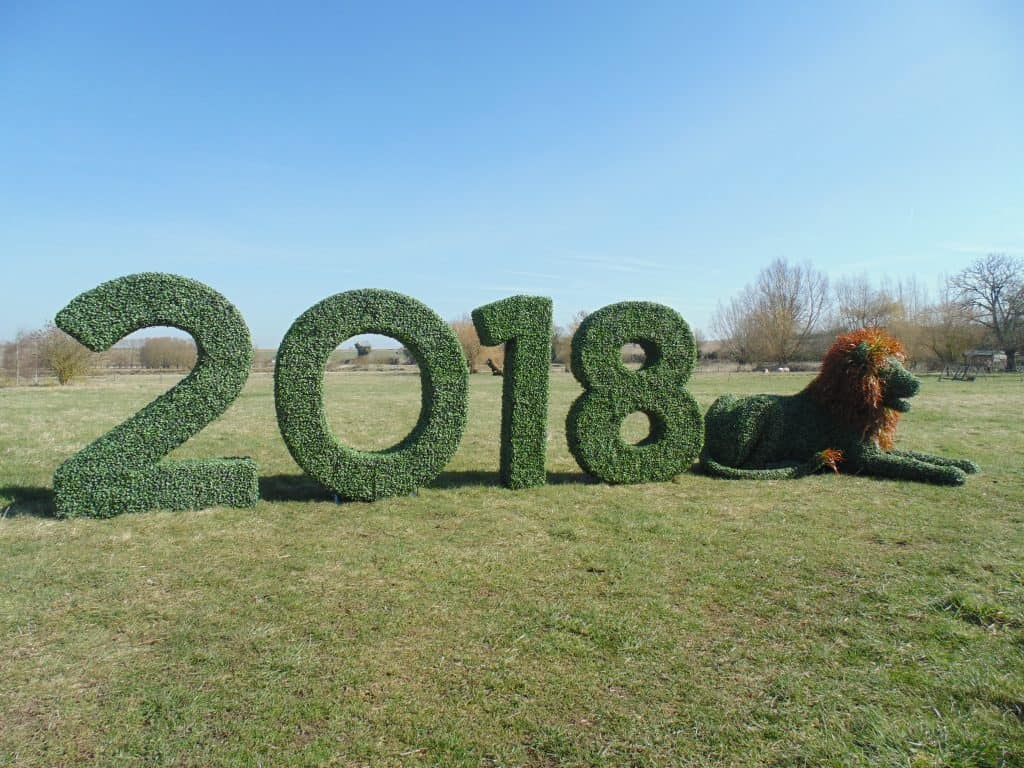 Numbers and Lion Artificial Topiary