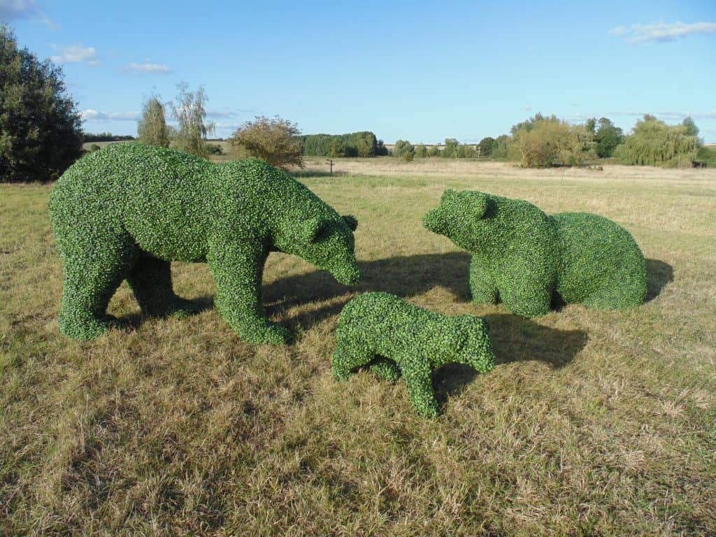 Polar Bear Artificial Topiaries