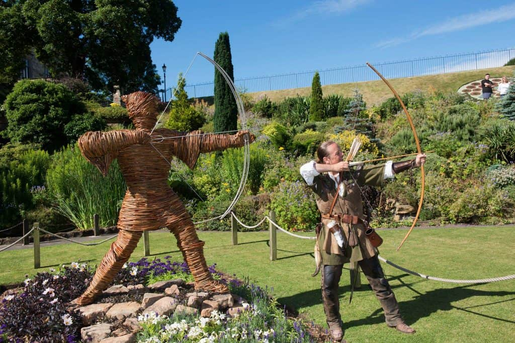 Willow Wicker woven Robin Hood sculpture for Nottingham
