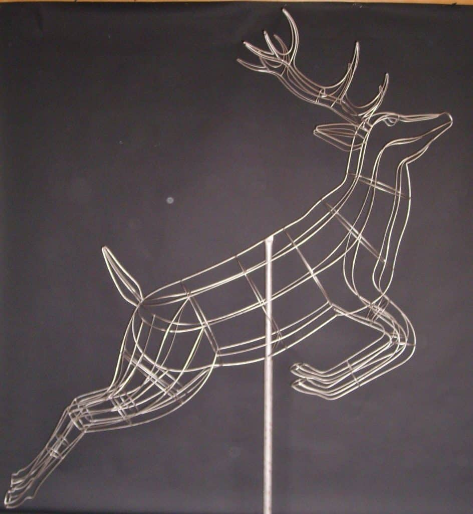 Stag Leaping Topiary Frame