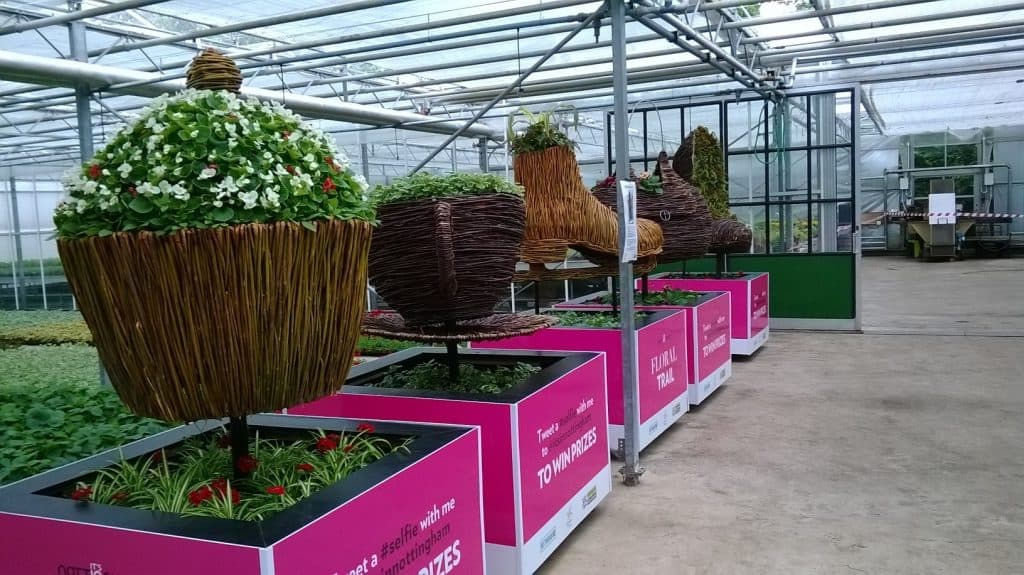 Willow Town Planters In Nottingham Nursery