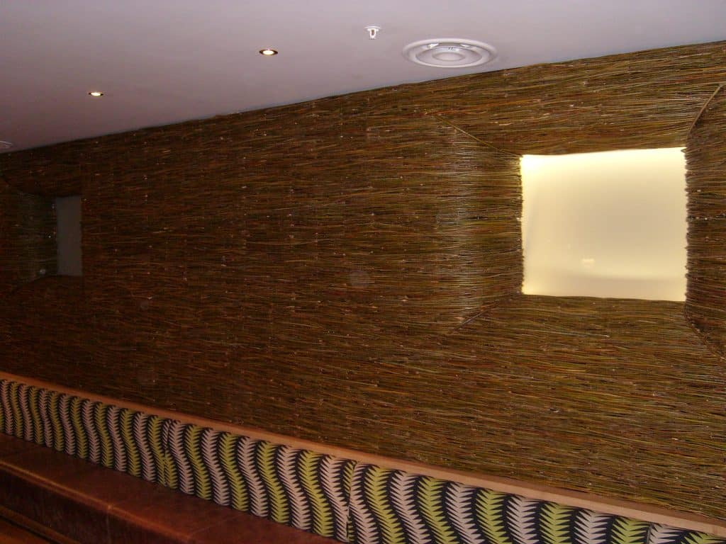 Willow Wicker Resturant wall At a Nandos