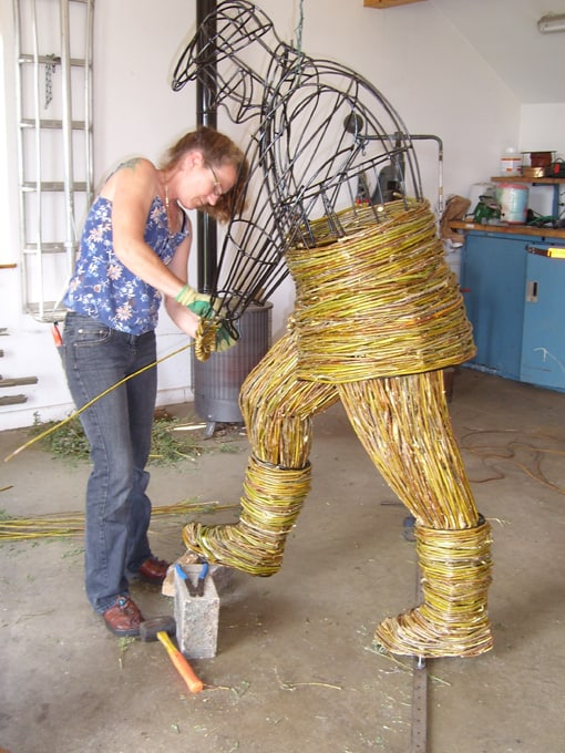 WILLOW WICKER SCULPTURE Gardener